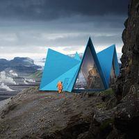 Skyli, un moderno refugio sostenible perfecto para hacer senderismo en Islandia