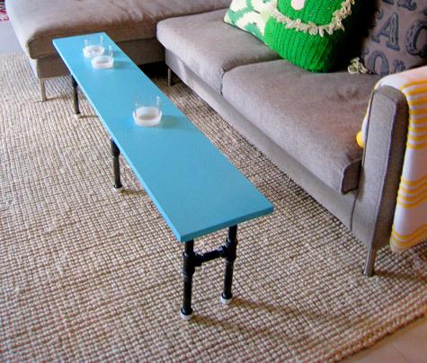 Foto de Una mesa auxiliar hecha con tuberías (3/7)