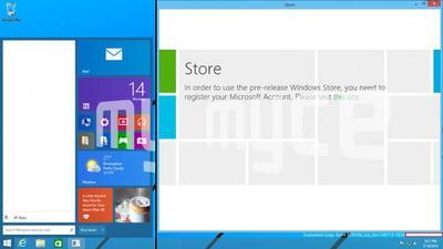 Nuevas capturas del próximo Windows muestran el menú de inicio y las aplicaciones en el escritorio