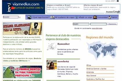 Viamedius, red social con relatos de viajeros