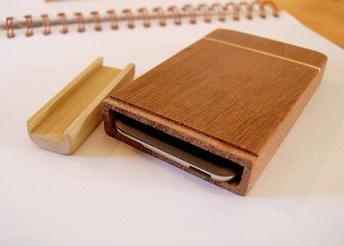 Caja de madera para el iPod