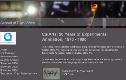 CalArts, varios de sus trabajos disponibles online