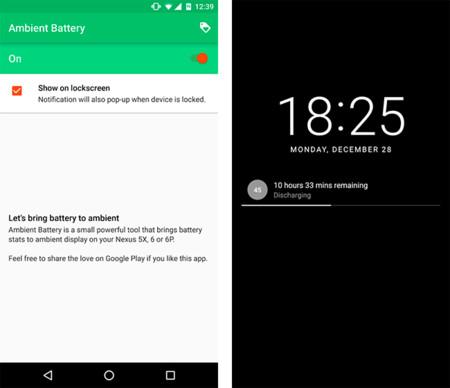 Ambient Battery, la pieza que le falta a Ambient Display para: mostrar la batería restante