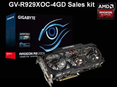 GIGABYTE Radeon R9 290X OC vendrá con disipador WindForce 450W