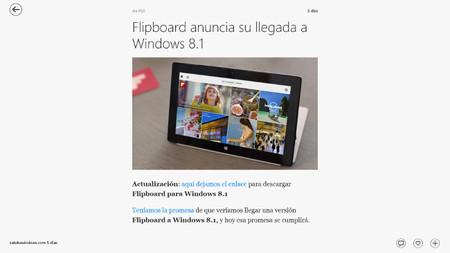 Leer noticias en Flipboard