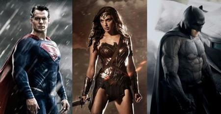 Henry Cavill, Gal Gadot y Ben Affleck como Superman, Wonder Woman y Batman
