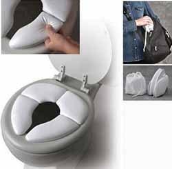 Cojín reductor de WC para llevar de viaje