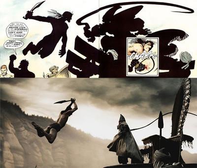 '300' Comparativa entre la película y el cómic