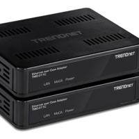 Estos adaptadores de TRENDnet llevan la conexión Ethernet por toda la casa usando los cables coaxiales ya instalados