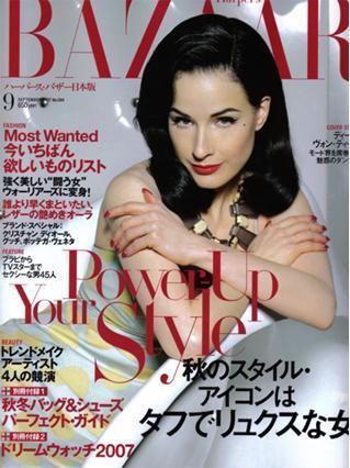 Dita von Teese para Harper's Bazaar Japón