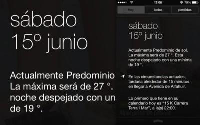 iOS 7 convierte el Centro de Notificaciones en un asistente al más puro estilo Google Now