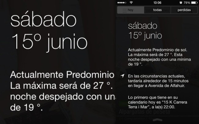 iOS 7 Centro de Notificaciones