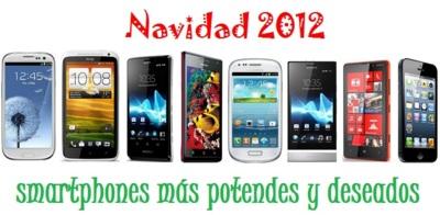 Comparativa precios de smartphones más destacados en Navidad 2012