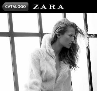 Zara en el móvil
