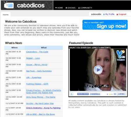 Catódicos, comunidad alrededor de las series de televisión