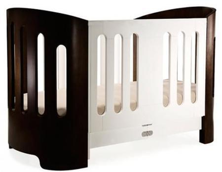 Luxo Crib, moderna y redondeada cuna de Bloom