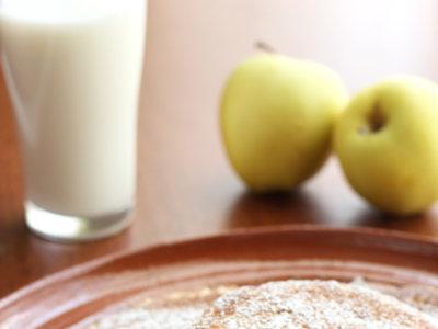 Hot cakes de manzana y canela. Receta