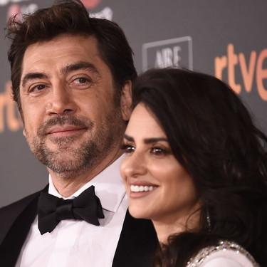 Las parejas posan ideales en los Premios Goya 2018
