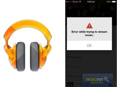 Google Play Music se levanta con el pie izquierdo en iOS: errores al reproducir canciones offline y en streaming