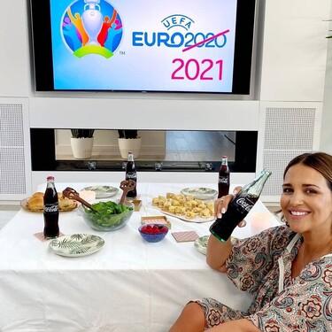 El look de Paula Echevarría para ver el partido de España