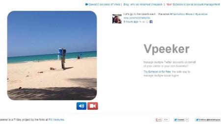 Vpeeker, vídeos en tiempo real uno tras otro