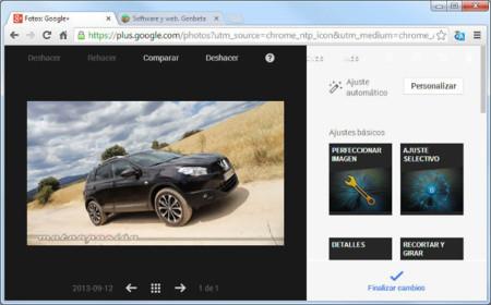 La edición de imágenes en Google+ con Snapseed ha llegado a Chrome