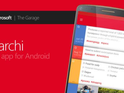 Microsoft Garage lanza una nueva aplicación para tomar notas en Android