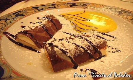 Canutillos rellenos de chocolate