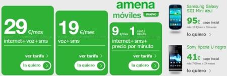 Amena incorpora tienda de móviles con pago a plazos sin permanencia