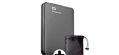 2 TB portables con funda de transporte por sólo 79,90 euros, con el WD Elements de Mediamarkt