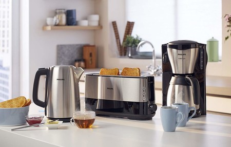 Oferta de Amazon en la cafetera Philips HD7546 con jarra térmica: su precio es de 47,92 euros con envío gratis
