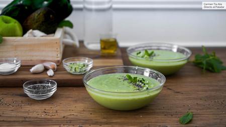 Gazpacho de aguacate y pepino
