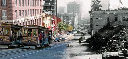 El gran incendio de 1906 en San Francisco recreado con Photoshop