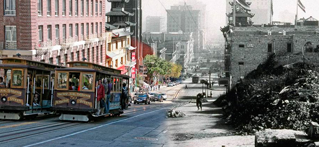 El gran incendio de 1906 en San Francisco recreado con Photoshop