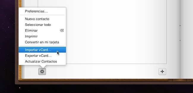Importar vCard en iCloud