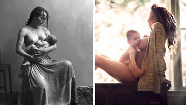 Dos preciosas fotos de lactancia con mucho mensaje que Facebook ya no censura