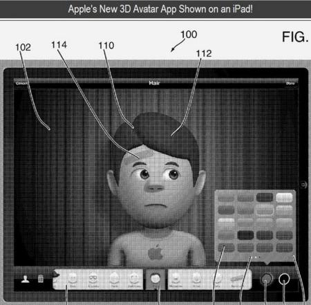 Apple muestra una aplicación para la creación de avatares 3D en una propuesta de patente