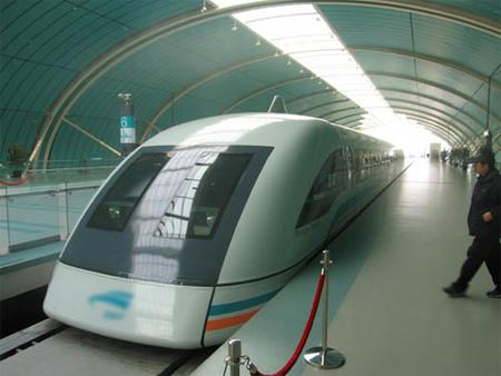 Tren Maglev en Shanghai