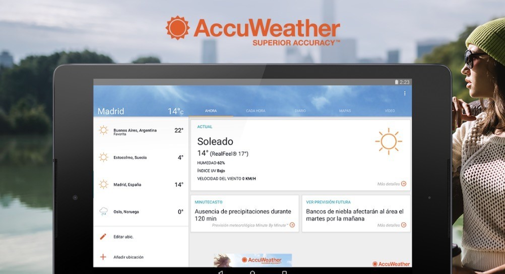 Accuweather se actualiza con apoyo para Wear OS y mas novedades, 1º en la beta