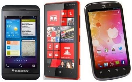 Precios con Yoigo del Nokia Lumia 820 y ZTE Grand X. Blacberry Z10 llegará más adelante