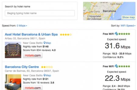 Hotel WiFi Test, una web que te permite elegir hotel por la calidad de su WiFi