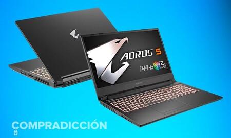 Este potente portátil gaming con procesador i7 vuelve a estar rebajado en Amazon: Gigabyte Aorus 5 SB-7ES1130SD por 899,99 euros
