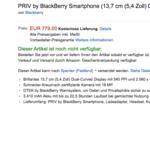 La BlackBerry Priv ya tiene precio oficial en Europa: 779 euros