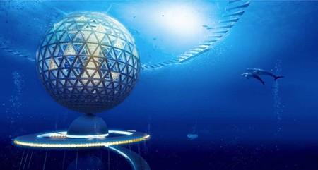 Vivir en el océano con vistas panorámicas en una esfera construida por impresoras 3D: así se plantea Ocean Spiral
