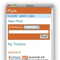 Plurkair, cliente de Plurk en Adobe AIR