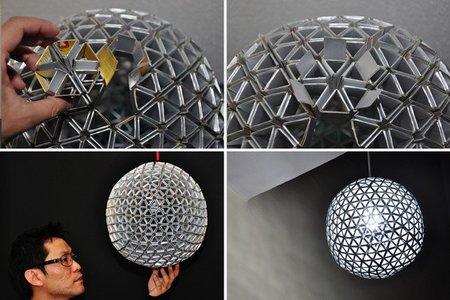 Lámpara hecha con bricks - resultado