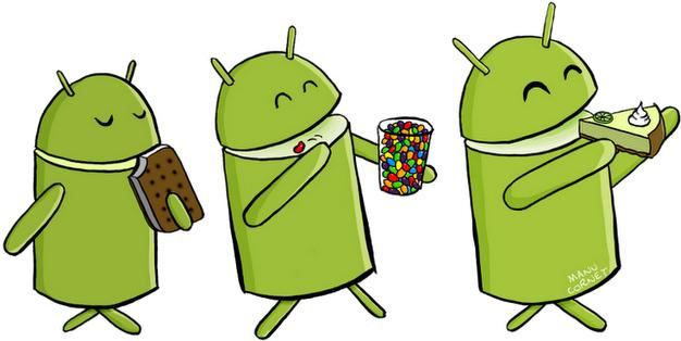 Un dibujo sobre la evolución de Android de un empleado de Google incluye a Key Lime Pie