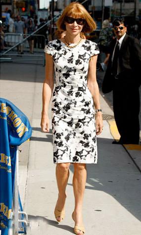 Anna Wintour en el show de David Letterman