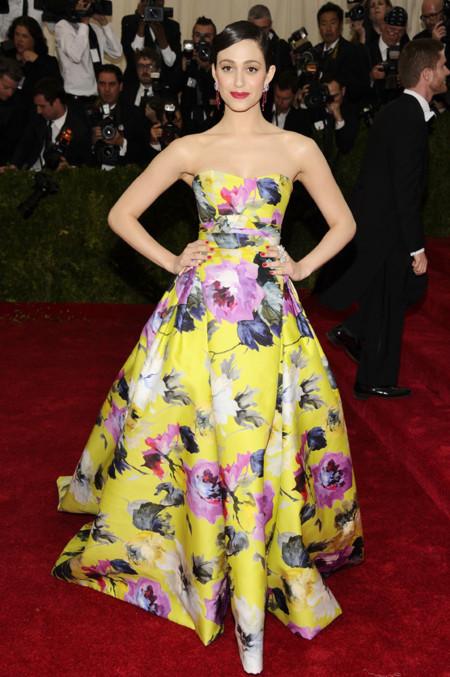 Emmy Rossum de Carolina Herrera Gala MET 2014