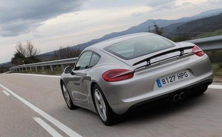 Porsche Cayman S trasera alerón